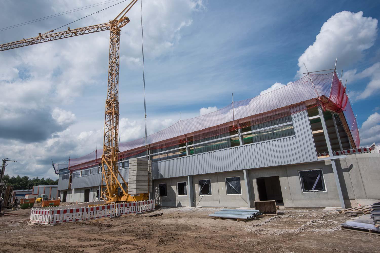 Das Besucherzentrum im Wertstoffhof mit Medienraum und Werkstatt wird gebaut