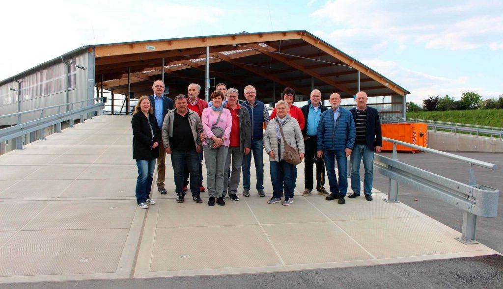 Gruppenfoto Besichtigung Wertstoffhof