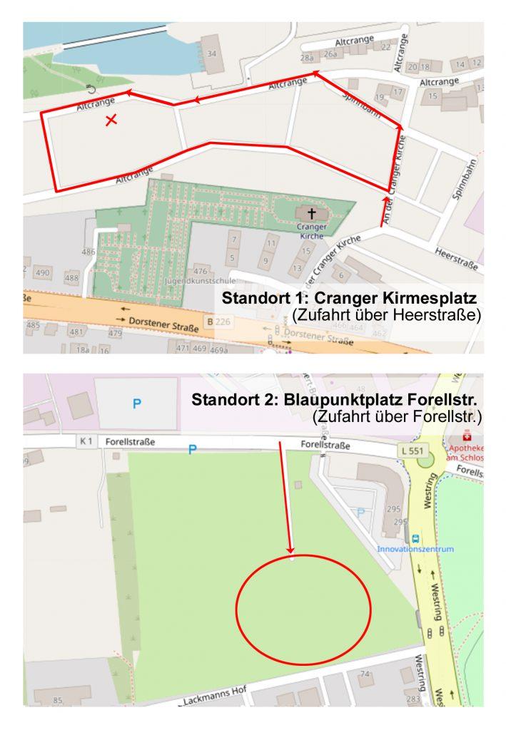 Standorte der Sonderaktion Sperrmüll